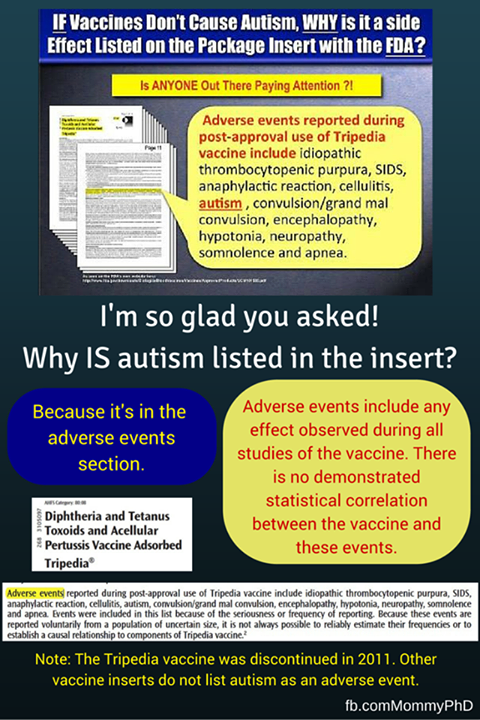 if vacicnes don't cause autism then why is it listed.png