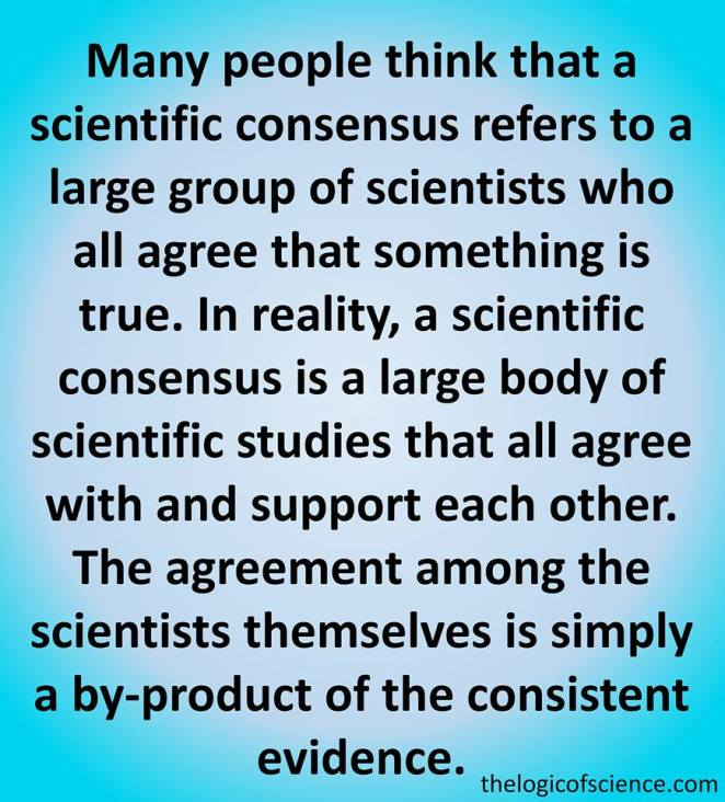 many people think that a scientfic consensus
